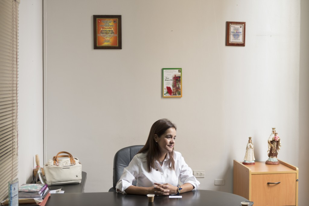 Karin Salanova, diputada 112 de la MUD. Caracas, 16/12/15. © Gabriel Osorio