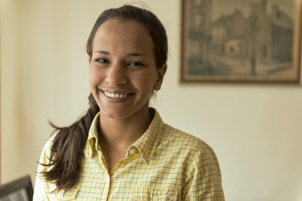 Marialbert Barrios, diputada electa el 6 de diciembre de 2015, para representar al circuito 1 de Caracas. Barrios se convirtió en la diputada más joven en la historia de la Asamblea Parlamentaria, a sus 25 años. Caracas, 19/12/15. © Gabriel Osorio