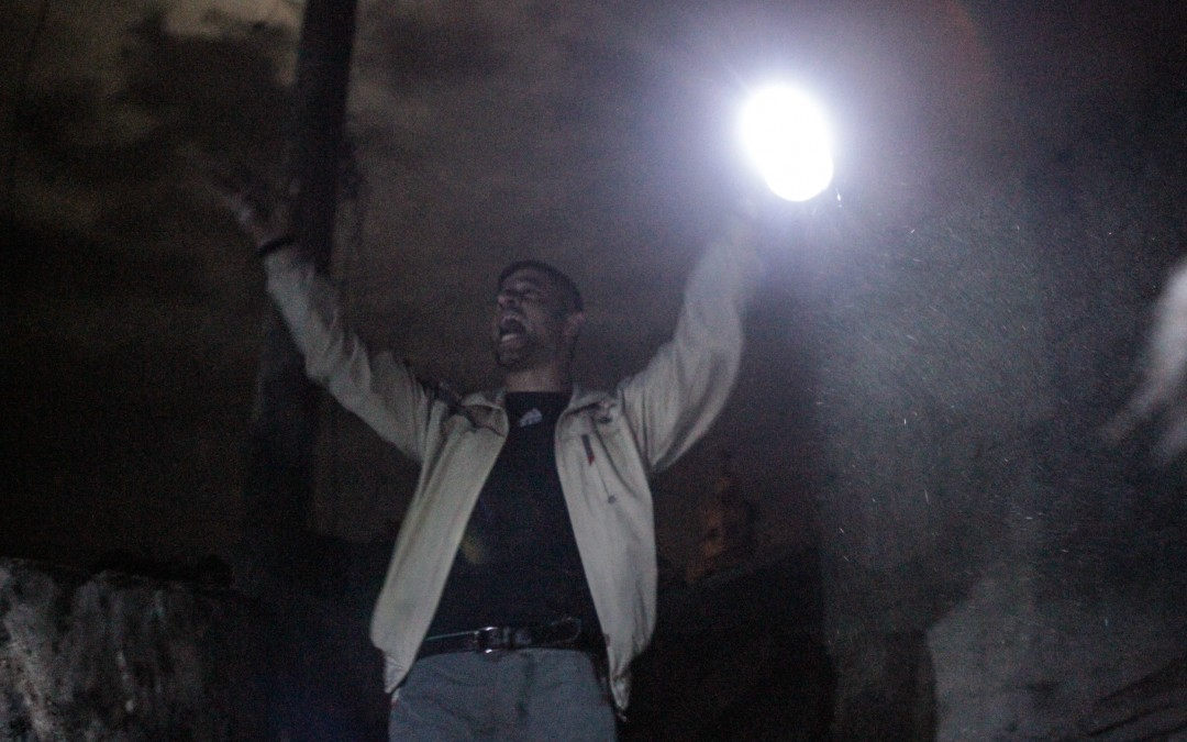 A man gestures while looking for victims in an apparent Scud missile attack in rebel-held Aleppo. The movement of arms is an important component of the proxy war being waged in Syria between key regional players, such as Saudi Arabia and Iran.